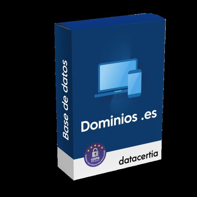 Base de datos de dominios web de España